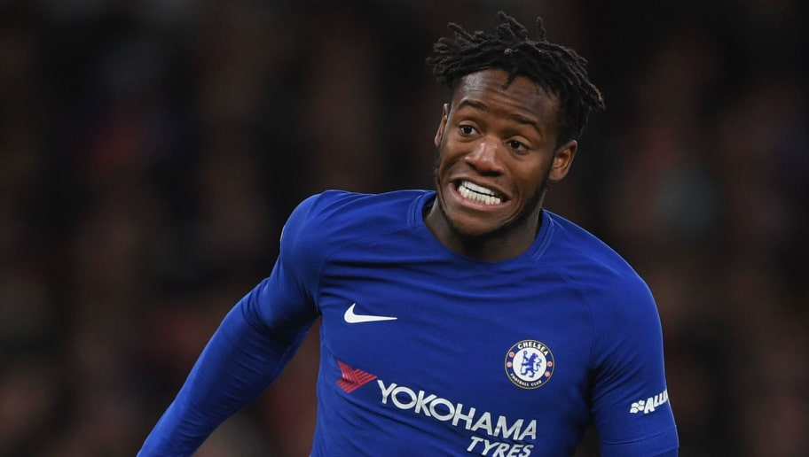 LONDON, ENGLAND - JANUARY 24:  Michy Batshuayi of Chelsea runs with the ball during Carabao Cup Semi-Final Second Leg match between Arsenal and Chelsea the  at Emirates Stadium on January 24, 2018 in London, England.  (Photo by Shaun Botterill/Getty Images)