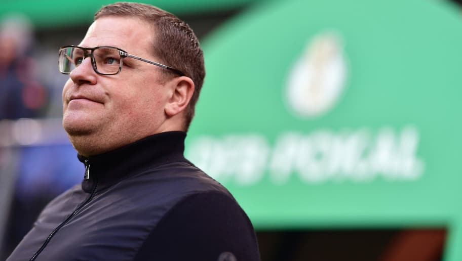 HAMBURG, GERMANY - MARCH 01:  Manager Max Eberl of Moenchengladbach looks on prior to the DFB Cup quarter final between Hamburger SV and Borussia Moenchengladbach at Volksparkstadion on March 1, 2017 in Hamburg, Germany.  (Photo by Stuart Franklin/Bongarts/Getty Images)