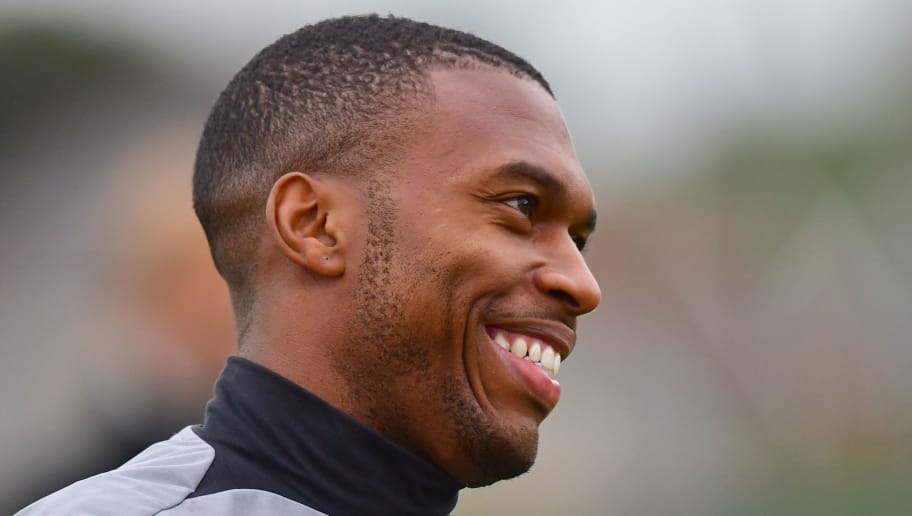 Liverpool's English striker Daniel Sturridge attends a team training session at the club's Melwood training complex in Liverpool, north west England, on September 12, 2017 , on the eve of their Champions League Group E football match against Sevilla. / AFP PHOTO / Anthony Devlin        (Photo credit should read ANTHONY DEVLIN/AFP/Getty Images)