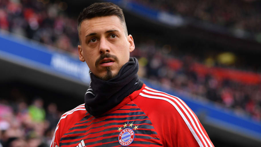 MUNICH, GERMANY - JANUARY 21: Sandro Wagner of Bayern Muenchen looks on prior to the Bundesliga match between FC Bayern Muenchen and SV Werder Bremen at Allianz Arena on January 21, 2018 in Munich, Germany. (Photo by Sebastian Widmann/Bongarts/Getty Images)