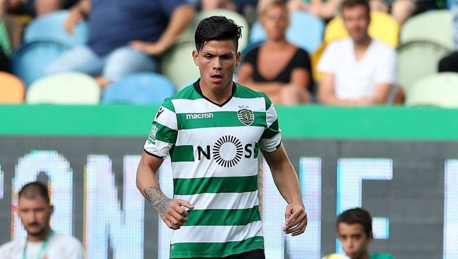 LISBON, PORTUGAL - JULY 29: Sporting CP defender Jonathan Silva from Argentina during the Five Violins Trophy match between Sporting CP and AC Fiorentina at Estadio Jose Alvalade on July 29, 2017 in Lisbon, Portugal.  (Photo by Carlos Rodrigues/Getty Images)