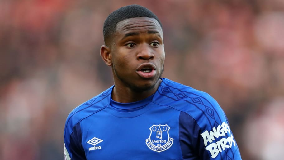 SOUTHAMPTON, ENGLAND - NOVEMBER 26: Ademola Lookman of Everton during the Premier League match between Southampton and Everton at St Mary's Stadium on November 26, 2017 in Southampton, England. (Photo by Catherine Ivill/Getty Images)