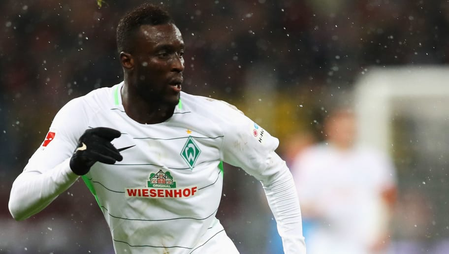 LEVERKUSEN, GERMANY - DECEMBER 13:  Lamine Sane of Werder Bremen in action during the Bundesliga match between Bayer 04 Leverkusen and SV Werder Bremen at BayArena on December 13, 2017 in Leverkusen, Germany.  (Photo by Dean Mouhtaropoulos/Bongarts/Getty Images)