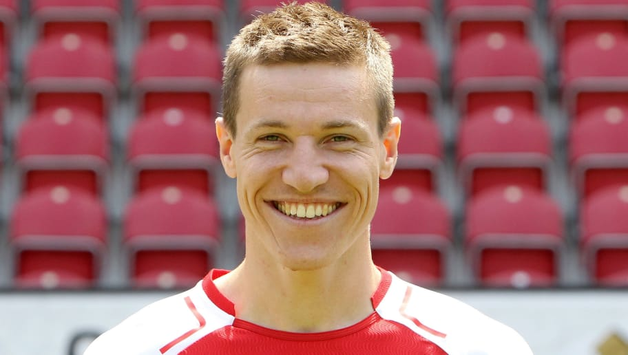 Frech defender Gaetan Bussmann of first division Bundesliga football team FSV Mainz 05 poses for a photo in Mainz, Germany, on July 14, 2017. / AFP PHOTO / Daniel ROLAND        (Photo credit should read DANIEL ROLAND/AFP/Getty Images)