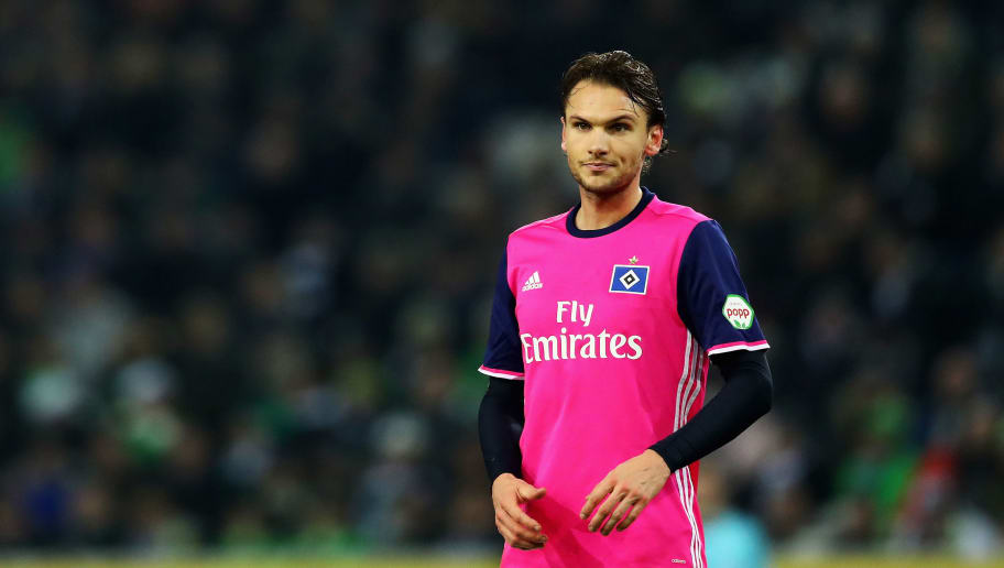 MOENCHENGLADBACH, GERMANY - DECEMBER 15:  Albin Ekdal of Hamburg looks on during the Bundesliga match between Borussia Moenchengladbach and Hamburger SV at Borussia-Park on December 15, 2017 in Moenchengladbach, Germany.  (Photo by Dean Mouhtaropoulos/Bongarts/Getty Images)