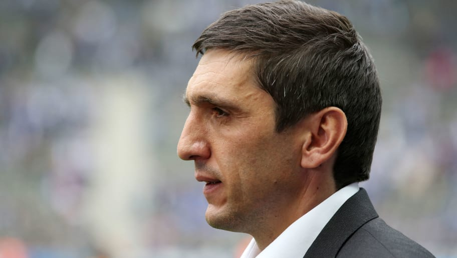 BERLIN, GERMANY - MAY 20:  Head coach Tayfun Korkut of Leverkusen looks on prior to the Bundesliga match between Hertha BSC and Bayer 04 Leverkusen at Olympiastadion on May 20, 2017 in Berlin, Germany. (Photo by Matthias Kern/Bongarts/Getty Images)