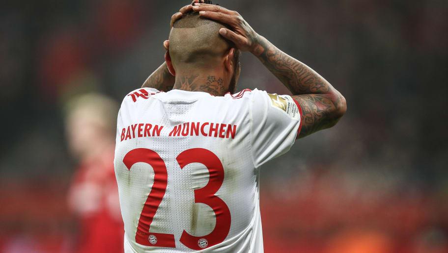 LEVERKUSEN, GERMANY - Arturo Vidal #23 of Bayern Munich reacts during the Bundesliga match between Bayer 04 Leverkusen and FC Bayern Muenchen at BayArena on January 12, 2018 in Leverkusen, Germany. (Photo by Maja Hitij/Bongarts/Getty Images)