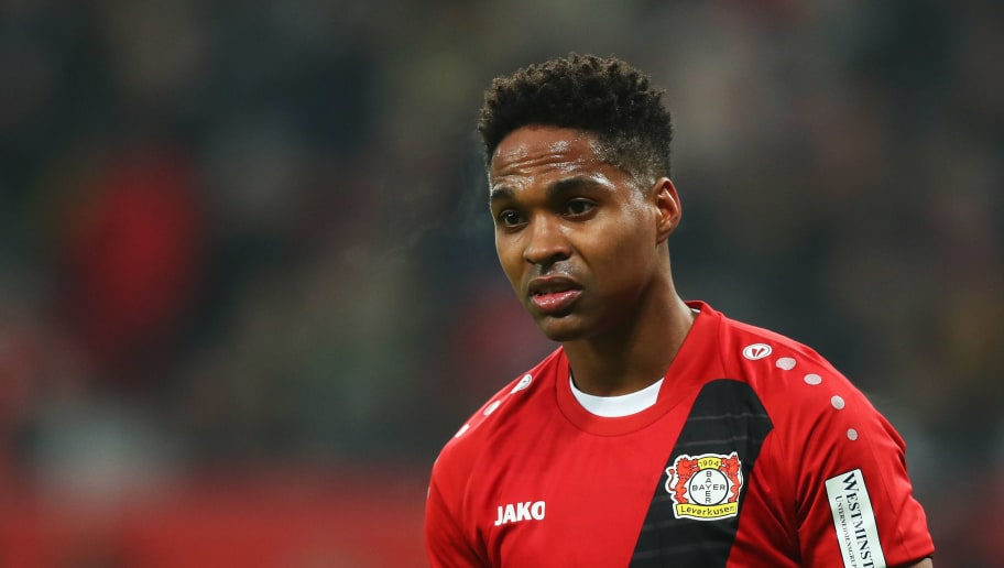 LEVERKUSEN, GERMANY - DECEMBER 02:  Wendell of Bayer 04 Leverkusen looks on during the Bundesliga match between Bayer 04 Leverkusen and Borussia Dortmund at BayArena on December 2, 2017 in Leverkusen, Germany.  (Photo by Dean Mouhtaropoulos/Bongarts/Getty Images)