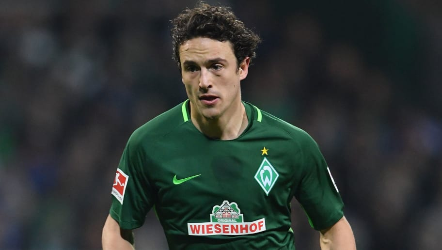 BREMEN, GERMANY - JANUARY 27:  Thomas Delaney of Bremen in action during the Bundesliga match between SV Werder Bremen and Hertha BSC at Weserstadion on January 27, 2018 in Bremen, Germany.  (Photo by Stuart Franklin/Bongarts/Getty Images)