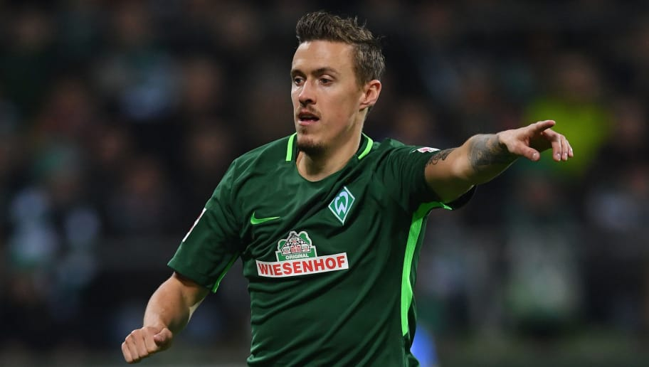 BREMEN, GERMANY - JANUARY 27:  Max Kruse of Bremen in action during the Bundesliga match between SV Werder Bremen and Hertha BSC at Weserstadion on January 27, 2018 in Bremen, Germany.  (Photo by Stuart Franklin/Bongarts/Getty Images)