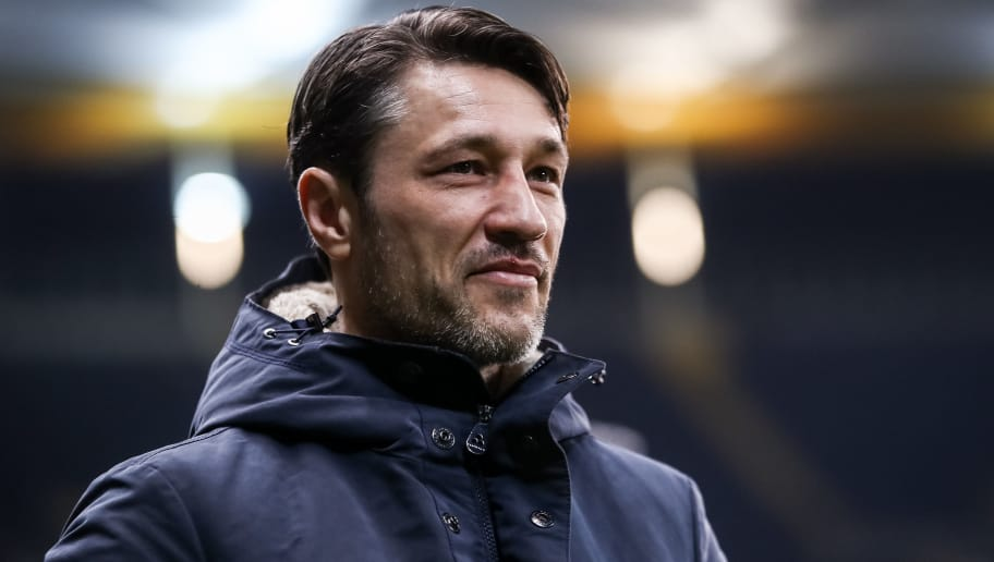 FRANKFURT AM MAIN, GERMANY - JANUARY 26: Head Coach Niko Kovac of Eintracht Frankfurt looks on prior the Bundesliga match between Eintracht Frankfurt and Borussia Moenchengladbach at Commerzbank-Arena on January 26, 2018 in Frankfurt am Main, Germany. (Photo by Alex Grimm/Bongarts/Getty Images)