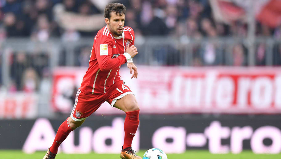 MUNICH, GERMANY - JANUARY 21: Juan Bernat of Bayern Muenchen plays the ball during the Bundesliga match between FC Bayern Muenchen and SV Werder Bremen at Allianz Arena on January 21, 2018 in Munich, Germany. (Photo by Sebastian Widmann/Bongarts/Getty Images)