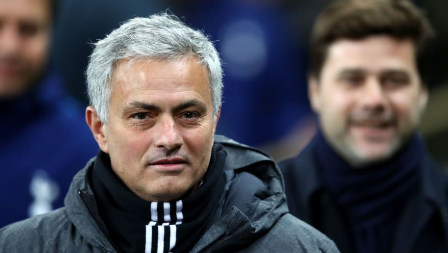 LONDON, ENGLAND - JANUARY 31:  Jose Mourinho, Manager of Manchester United looks on prior to the Premier League match between Tottenham Hotspur and Manchester United at Wembley Stadium on January 31, 2018 in London, England.  (Photo by Julian Finney/Getty Images)
