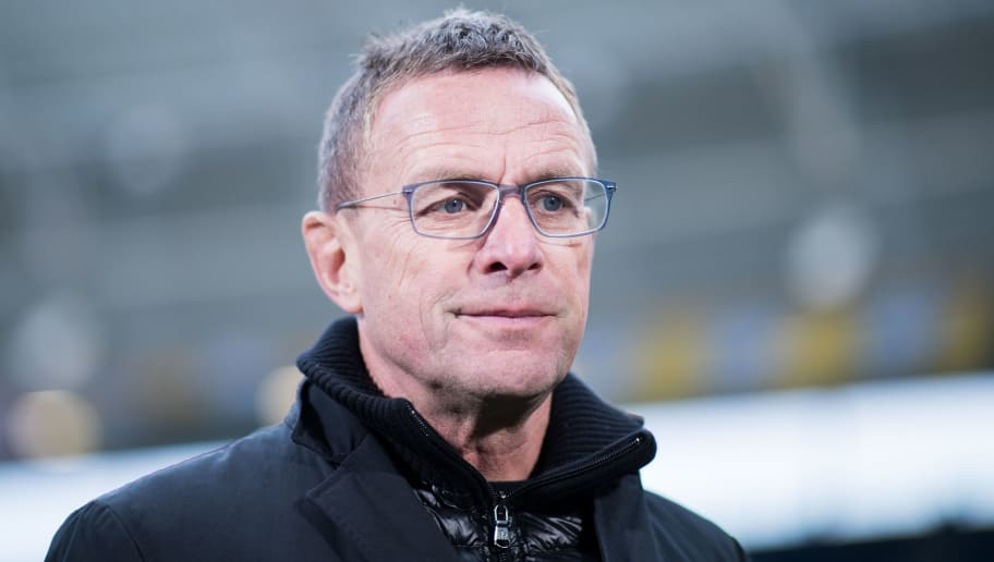 SINSHEIM, GERMANY - DECEMBER 02: Sporting Diretor Ralf Rangnick of Leipzig looks on during the Bundesliga match between TSG 1899 Hoffenheim and RB Leipzig at Wirsol Rhein-Neckar-Arena on December 2, 2017 in Sinsheim, Germany. (Photo by Simon Hofmann/Bongarts/Getty Images)