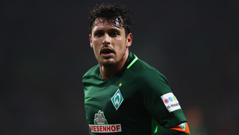 BREMEN, GERMANY - JANUARY 13:  Zlatko Junuzovic of Werder Bremen in action during the Bundesliga match between SV Werder Bremen and TSG 1899 Hoffenheim at Weserstadion on January 13, 2018 in Bremen, Germany.  (Photo by Dean Mouhtaropoulos/Bongarts/Getty Images)