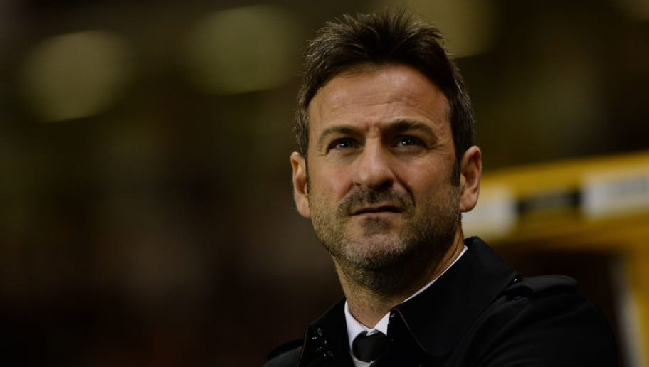 WOLVERHAMPTON, ENGLAND - NOVEMBER 22: Thomas Christiansen manager of Leeds United looks on during the Sky Bet Championship match between Wolverhampton Wanderers and Leeds United at Molineux on November 22, 2017 in Wolverhampton, England. (Photo by Nathan Stirk/Getty Images)