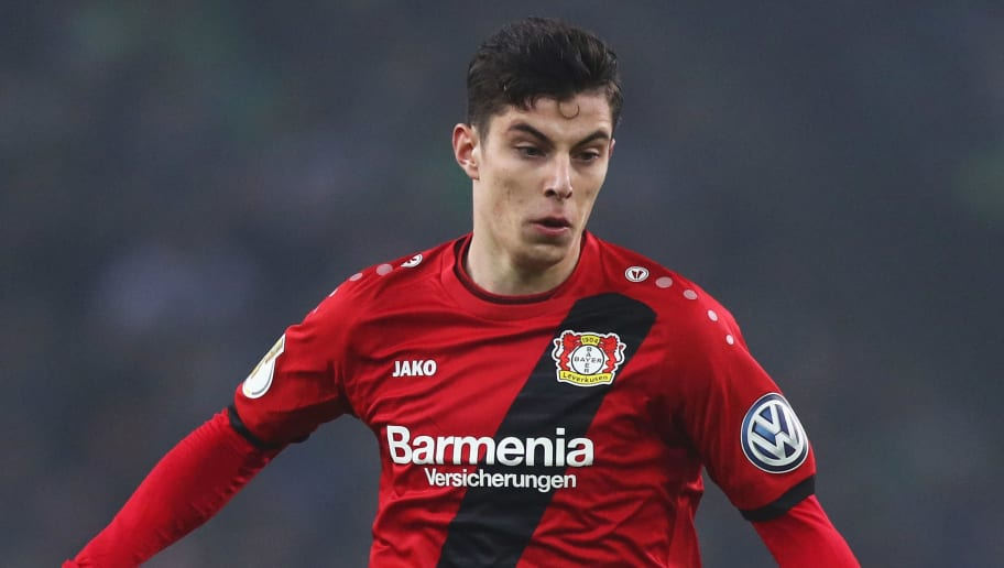 MOENCHENGLADBACH, GERMANY - DECEMBER 20:  Kai Havertz of Bayer 04 Leverkusen in action during the DFB-Pokal match between Borussia Moenchengladbach and Bayer Leverkusen at Borussia-Park on December 20, 2017 in Moenchengladbach, Germany.  (Photo by Dean Mouhtaropoulos/Bongarts/Getty Images)