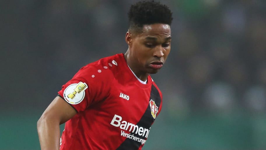 MOENCHENGLADBACH, GERMANY - DECEMBER 20:  Wendell of Bayer 04 Leverkusen in action during the DFB-Pokal match between Borussia Moenchengladbach and Bayer Leverkusen at Borussia-Park on December 20, 2017 in Moenchengladbach, Germany.  (Photo by Dean Mouhtaropoulos/Bongarts/Getty Images)