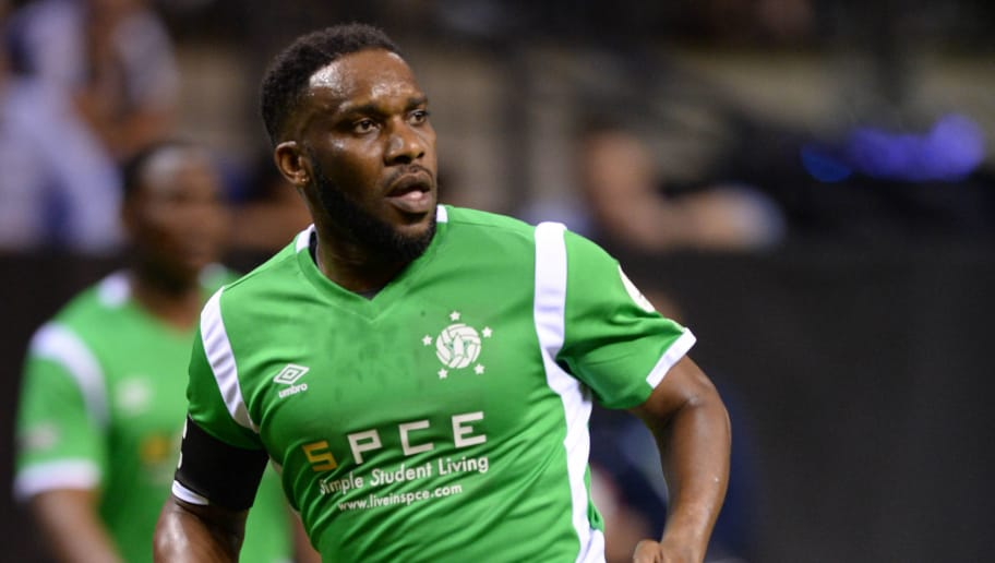 Nigeria's Jay-Jay Okocha runs for the ball during the Star Sixes football match between China and Nigeria at the O2 Arena in London on July 13, 2017.  Star Sixes is the first-ever competitive tournament for world-renowned former international footballers. Twelve national teams featuring a host of stellar names go head-to-head at Londons iconic O2 Arena in an exciting six-a-side competition with the inaugural Star Sixes trophy at stake. / AFP PHOTO / OLLY GREENWOOD        (Photo credit should read OLLY GREENWOOD/AFP/Getty Images)