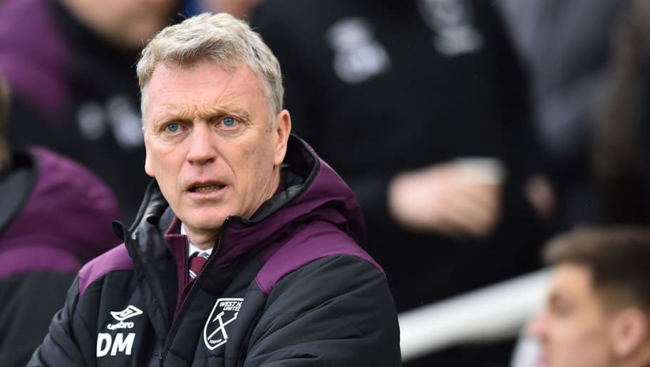 West Ham United's Scottish manager David Moyes looks on before the English Premier League football match between Brighton and Hove Albion and West Ham United at the American Express Community Stadium in Brighton, southern England on February 3, 2018. / AFP PHOTO / Glyn KIRK / RESTRICTED TO EDITORIAL USE. No use with unauthorized audio, video, data, fixture lists, club/league logos or 'live' services. Online in-match use limited to 75 images, no video emulation. No use in betting, games or single club/league/player publications.  /         (Photo credit should read GLYN KIRK/AFP/Getty Images)