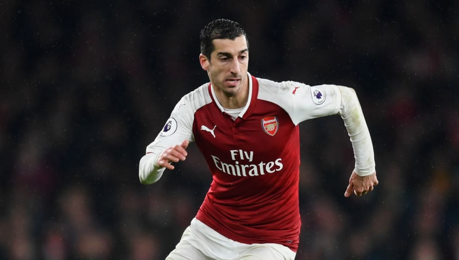 LONDON, ENGLAND - FEBRUARY 03:  Henrikh Mkhitaryan of Arsenal in action during the Premier League match between Arsenal and Everton at Emirates Stadium on February 3, 2018 in London, England.  (Photo by Michael Regan/Getty Images)