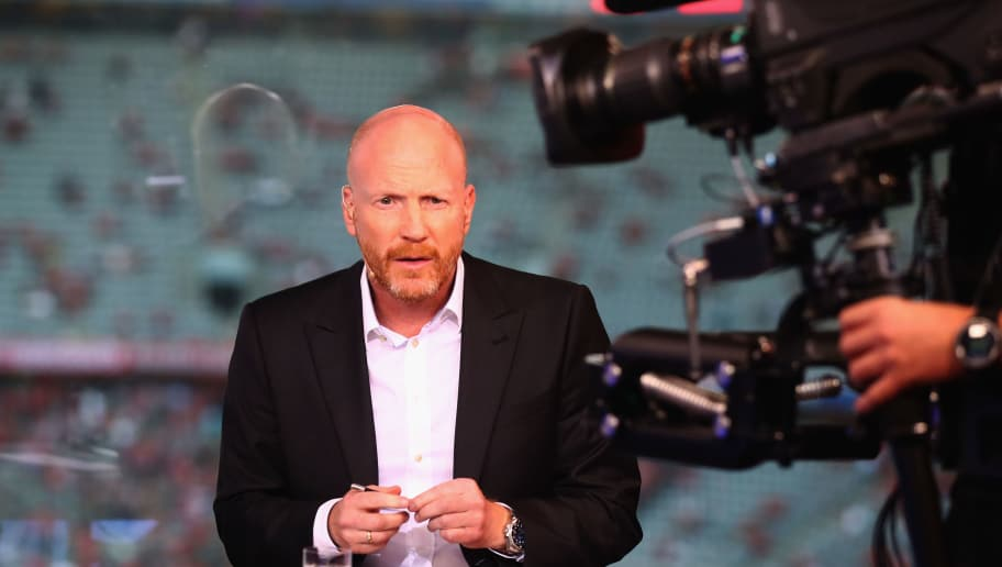 MUNICH, GERMANY - AUGUST 18:  Matthias Sammer at the Eurosport TV studio prior to the Bundesliga match between FC Bayern Muenchen and Bayer 04 Leverkusen at Allianz Arena on August 18, 2017 in Munich, Germany.  (Photo by Alexander Hassenstein/Bongarts/Getty Images)
