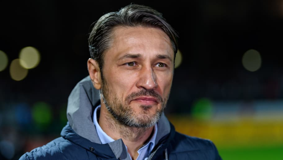 SCHWEINFURT, GERMANY - OCTOBER 24: Head coach Niko Kovac of Eintracht Frankfurt is seen prior to the DFB Cup match between 1. FC Schweinfurt 1905 and Eintracht Frankfurt at Willy-Sachs-Stadion on October 24, 2017 in Schweinfurt, Germany. (Photo by Alexander Scheuber/Bongarts/Getty Images)