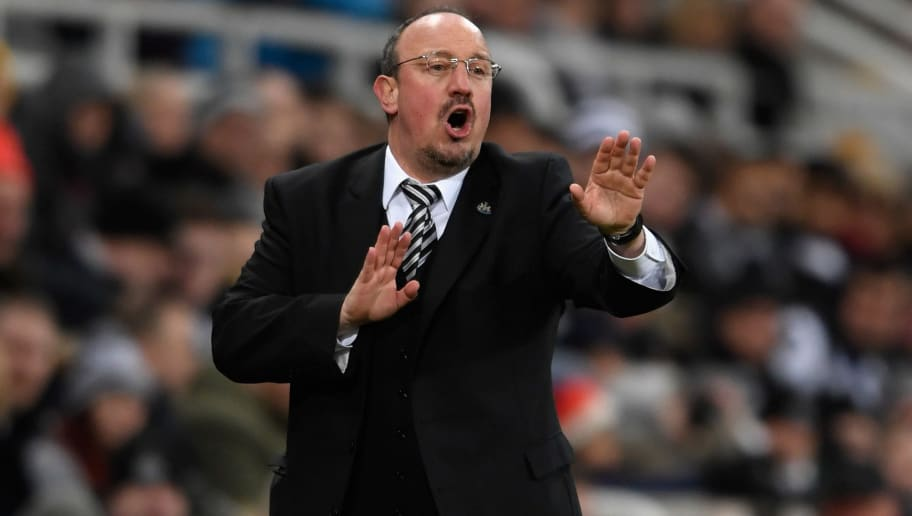 NEWCASTLE UPON TYNE, ENGLAND - JANUARY 31:  Newcastle manager Rafa Benitez reacts during the Premier League match between Newcastle United and Burnley at St. James Park on January 31, 2018 in Newcastle upon Tyne, England.  (Photo by Stu Forster/Getty Images)