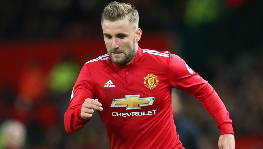 MANCHESTER, ENGLAND - DECEMBER 30:  Luke Shaw of Manchester United during the Premier League match between Manchester United and Southampton at Old Trafford on December 30, 2017 in Manchester, England.  (Photo by Alex Livesey/Getty Images)