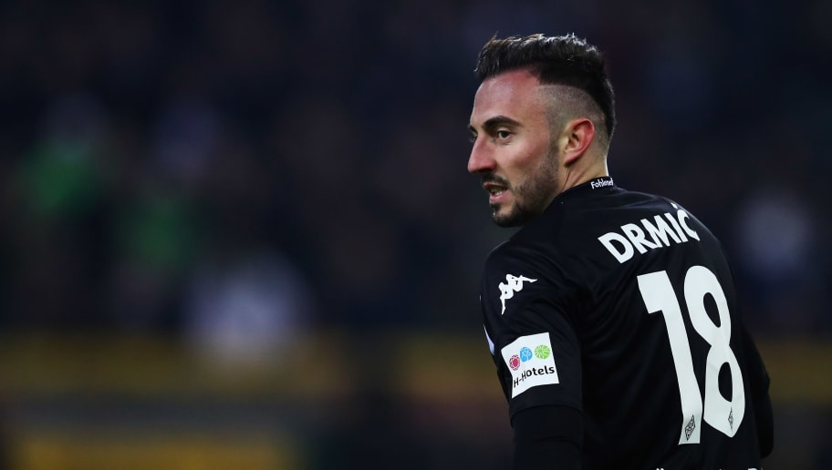 MOENCHENGLADBACH, GERMANY - NOVEMBER 25:  Josip Drmic of Borussia Monchengladbach looks on during the Bundesliga match between Borussia Moenchengladbach and FC Bayern Muenchen at Borussia-Park on November 25, 2017 in Moenchengladbach, Germany.  (Photo by Dean Mouhtaropoulos/Bongarts/Getty Images)