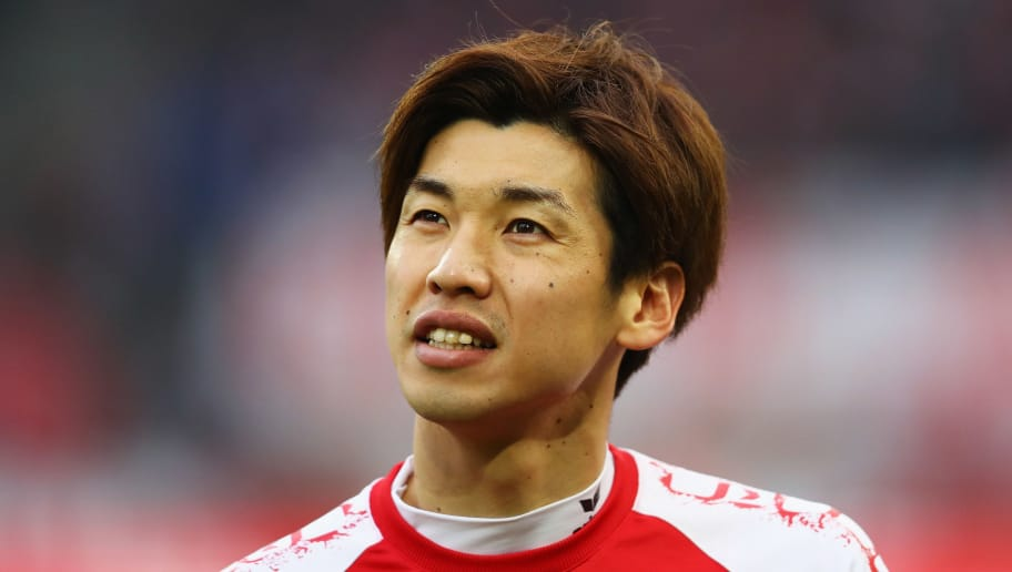 COLOGNE, GERMANY - JANUARY 14:  Yuya Osako of FC Koeln looks on during the Bundesliga match between 1. FC Koeln and Borussia Moenchengladbach at RheinEnergieStadion on January 14, 2018 in Cologne, Germany.  (Photo by Dean Mouhtaropoulos/Bongarts/Getty Images)