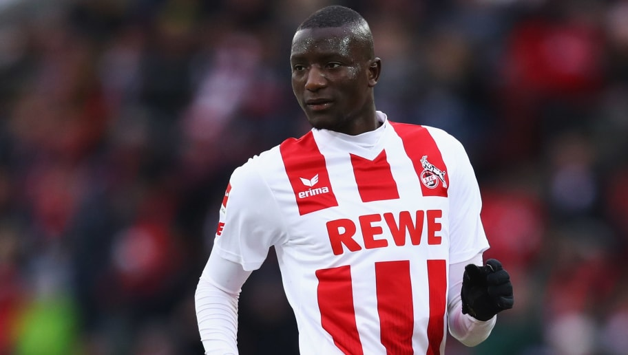 COLOGNE, GERMANY - DECEMBER 10:  Sehrou Guirassy of FC Koeln in action during the Bundesliga match between 1. FC Koeln and Sport-Club Freiburg at RheinEnergieStadion on December 10, 2017 in Cologne, Germany.  (Photo by Dean Mouhtaropoulos/Bongarts/Getty Images)