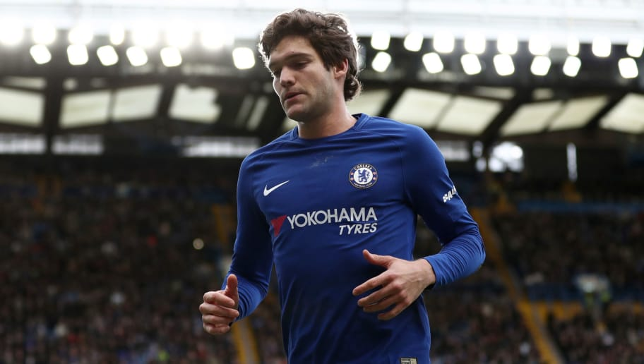 LONDON, ENGLAND - JANUARY 28: Marcos Alonso of Chelsea during the Emirates FA Cup Fourth Round match between Chelsea and Newcastle United on January 28, 2018 in London, United Kingdom. (Photo by Catherine Ivill/Getty Images)