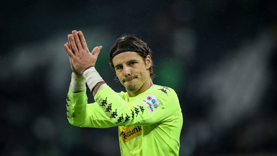 MOENCHENGLADBACH, GERMANY - JANUARY 20: Yann Sommer goalkeeper of Moenchengladbach reacts after the Bundesliga match between Borussia Moenchengladbach and FC Augsburg at Borussia-Park on January 20, 2018 in Moenchengladbach, Germany. (Photo by Maja Hitij/Bongarts/Getty Images)
