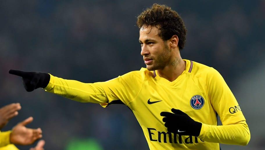 Paris Saint-Germain s Brazilian forward Neymar celebrates after scoring a  goal during French L1 football 560bea757