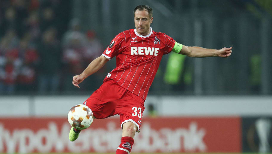 COLOGNE, GERMANY - NOVEMBER 02: Matthias Lehmann of Koeln controls the ball during the UEFA Europa League group H match between 1. FC Koeln and BATE Borisov at RheinEnergieStadion on November 2, 2017 in Cologne, Germany. (Photo by Maja Hitij/Bongarts/Getty Images)
