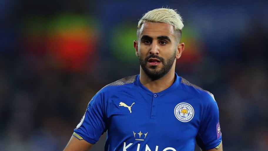 LEICESTER, ENGLAND - DECEMBER 23: Riyad Mahrez of Leicester City during the Premier League match between Leicester City and Manchester United at The King Power Stadium on December 23, 2017 in Leicester, England. (Photo by Catherine Ivill/Getty Images)