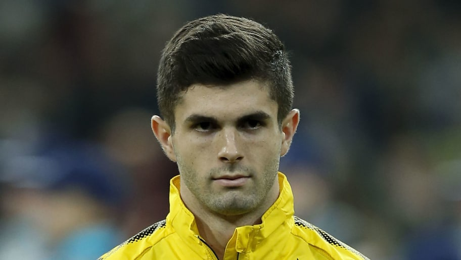 MADRID, SPAIN - DECEMBER 06: Christian Pulisic of Borussia Dortmund stands prior to start the UEFA Champions League group H match between Real Madrid and Borussia Dortmund at Estadio Santiago Bernabeu on December 6, 2017 in Madrid, Spain. (Photo by Gonzalo Arroyo Moreno/Getty Images)