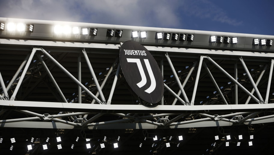 The picture shows the new logo of Juventus before the Italian Serie A football match Juventus Vs Cagliari on August 19, 2017 at the 'Allianz Stadium' in Turin. / AFP PHOTO / Marco BERTORELLO        (Photo credit should read MARCO BERTORELLO/AFP/Getty Images)