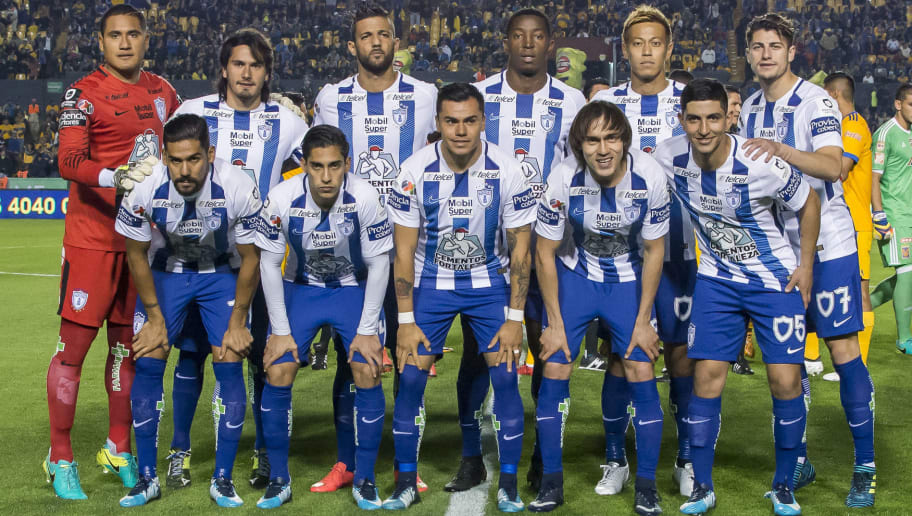 MONTERREY, MEXICO - JANUARY 27:  Players of Pachuca pose prior the 4th round match between Tigres UANL and Pachuca as part of the Torneo Clausura 2018 Liga MX on January 27, 2018 in Monterrey, Mexico. (Photo by Azael Rodriguez/Getty Images)