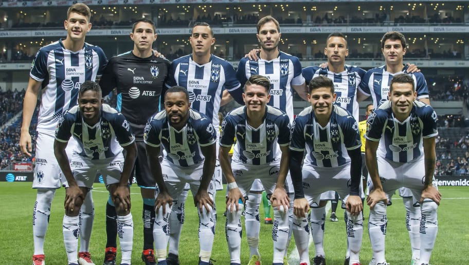MONTERREY, MEXICO - FEBRUARY 03: Players of Monterrey pose prior the 5th round match between Monterrey and Leon as part of the Torneo Clausura 2018 Liga MX at BBVA Bancomer Stadium on February 3, 2018 in Monterrey, Mexico. (Photo by Azael Rodriguez/Getty Images)