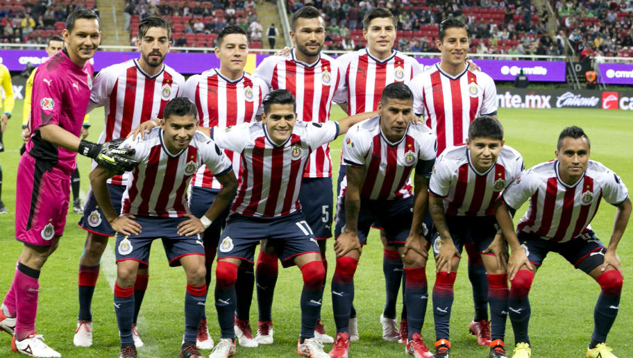 GUADALAJARA, MEXICO - JANUARY 27: Players of Chivas pose for photos prior the 4th round match between Chivas and Monterrey as part of the Torneo Clausura 2018 Liga MX at Akron Stadium on January 27, 2018 in Guadalajara, Mexico.  (Photo by Refugio Ruiz/Getty Images)