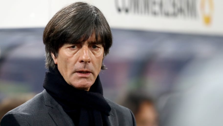 COLOGNE, GERMANY - NOVEMBER 14:  Joachim Loew, head coach of Germany looks on prior to  the international friendly match between Germany and France at RheinEnergieStadion on November 14, 2017 in Cologne, Germany.  (Photo by Alexander Hassenstein/Bongarts/Getty Images)