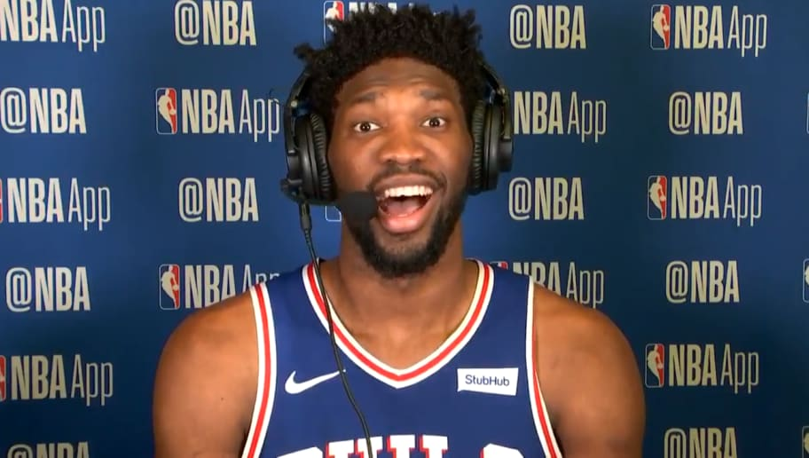 VIDEO Joel Embiid Just Threw Postgame Shade At KD For Burner Account Adrian Wilson