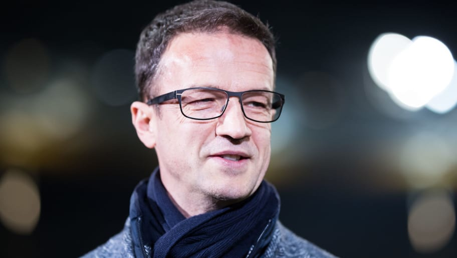 FRANKFURT AM MAIN, GERMANY - FEBRUARY 07: Manager Fredi Bobic of Frankfurt looks on during the DFB Cup quarter final match between Eintracht Frankfurt and 1. FSV Mainz 05 at Commerzbank-Arena on February 7, 2018 in Frankfurt am Main, Germany. (Photo by Simon Hofmann/Bongarts/Getty Images)