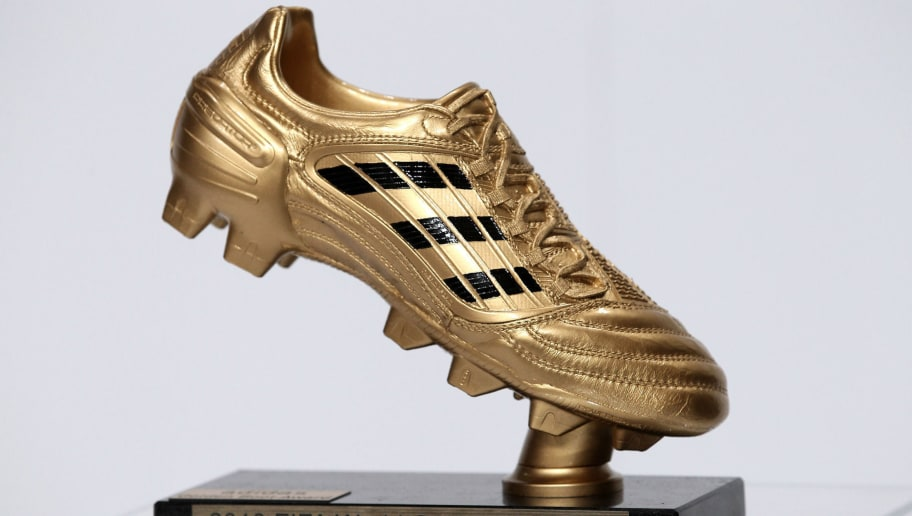 HERZOGENAURACH, GERMANY - DECEMBER 14: The adidas Golden Boot award is pictured during the FIFA 2010 World Cup adidas Golden Award ceremony at the adidas headquarters on December 14, 2010 in Herzogenaurach, Germany.  (Photo by Miguel Villagran/Getty Images for adidas)