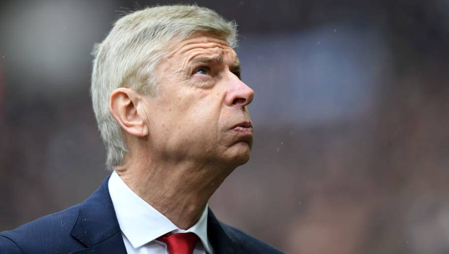 LONDON, ENGLAND - FEBRUARY 10:  Arsene Wenger of Arsenal looks on during the Premier League match between Tottenham Hotspur and Arsenal at Wembley Stadium on February 10, 2018 in London, England.  (Photo by Laurence Griffiths/Getty Images)