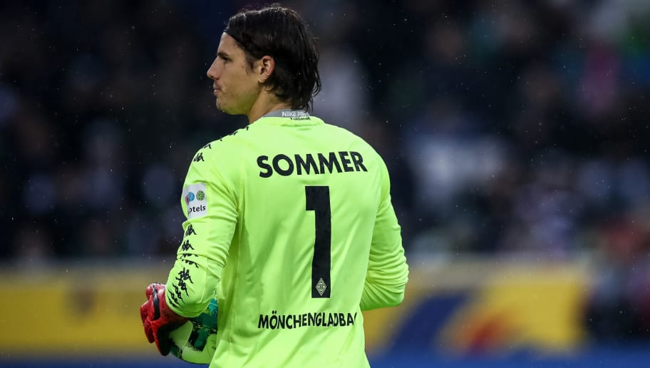 MOENCHENGLADBACH, GERMANY - JANUARY 20: Yann Sommer goalkeeper of Moenchengladbach looks on during the Bundesliga match between Borussia Moenchengladbach and FC Augsburg at Borussia-Park on January 20, 2018 in Moenchengladbach, Germany. (Photo by Maja Hitij/Bongarts/Getty Images)