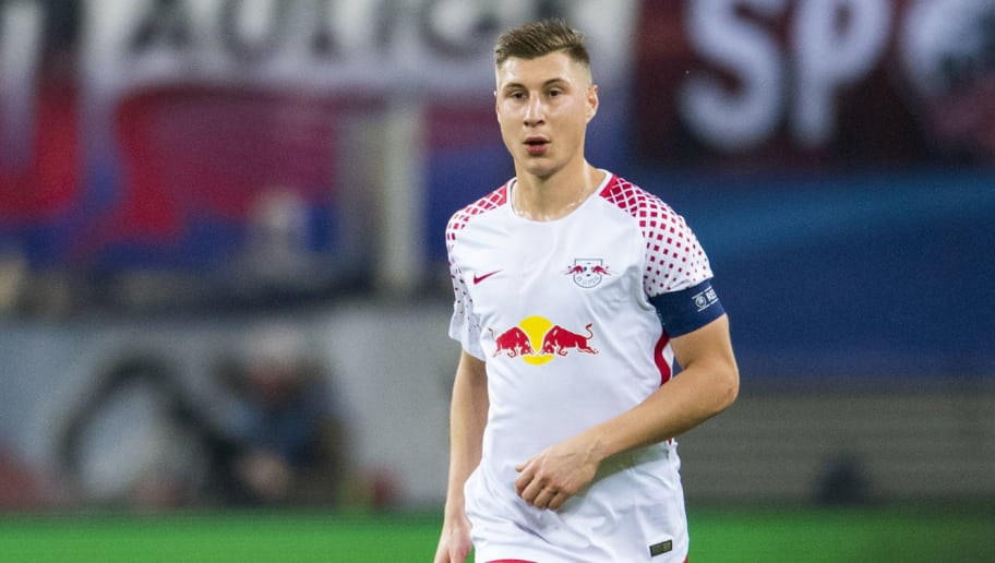 Leipzig's defender Willi Orban plays the ball during the UEFA Champions League group G football match RB Leipzig vs Besiktas in Leipzig, eastern Germany, on December 6, 2017. / AFP PHOTO / ROBERT MICHAEL        (Photo credit should read ROBERT MICHAEL/AFP/Getty Images)