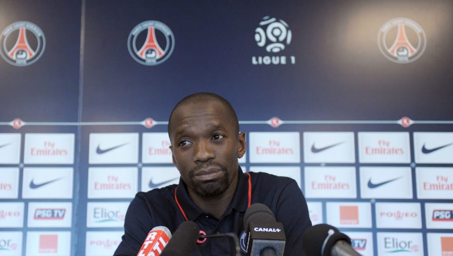 PSG football captain Claude Makelele speaks during a press conference on July 5, 2010 in Saint-Germain-en-Laye outside Paris after a training session.  AFP PHOTO MIGUEL MEDINA (Photo credit should read MIGUEL MEDINA/AFP/Getty Images)